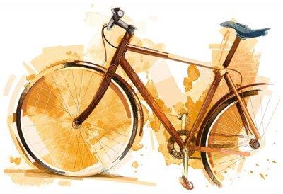 Naklejka Wyścig kolarski