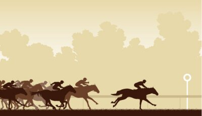 Naklejka Wyścig konny