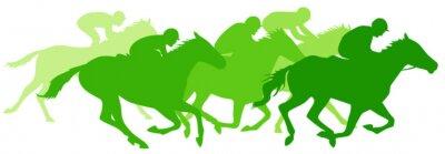 Naklejka Wyścigi konne
