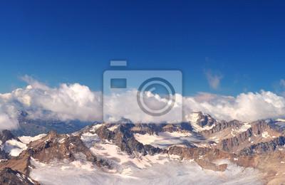 Naklejka Wysoka region górski. Naturalny krajobraz