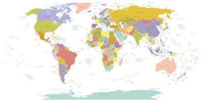 Naklejka Wysokie map.Layers świata szczegółowości używane.