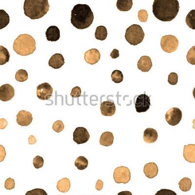 Naklejka wzór akwarela kropki polka. tekstylia, płytki, tapety, druk zawijający. pocztówka, baner lub abstrakcyjne tło. ręcznie toną powtarzalny wzór w kolorowe kropki nierówny kształt