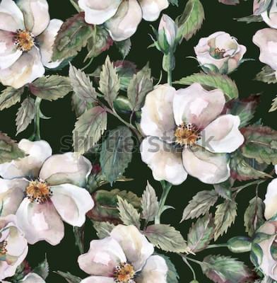 Naklejka Wzór dzikich róż