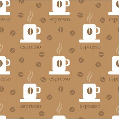 Naklejka wzór kawy