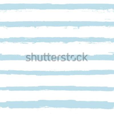 Naklejka Wzór linii malowania. wektor tle lato morze paski. geometryczne paski marynarskie. pociągnięcia pędzlem niebieskim tuszem. paski grunge, nowoczesna linia pędzli do owijania, tapety, tekstylia
