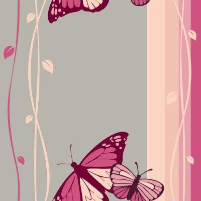Naklejka wzór Motyle