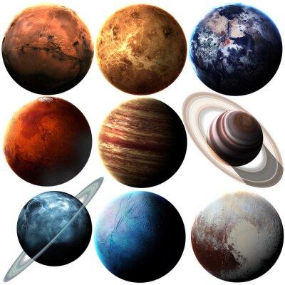 Naklejka Wzrost jakości pojedyncze planety układu słonecznego. Elementy tego zdjęcia dostarczone przez NASA