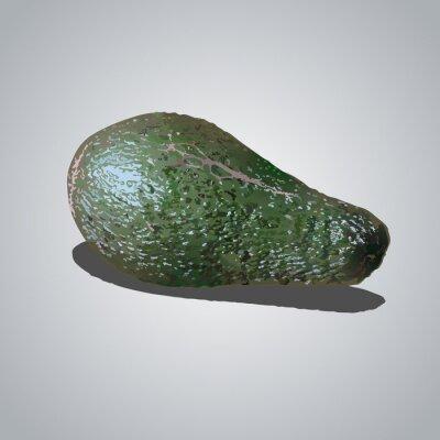 Naklejka зеленый авакадо на сером фоне