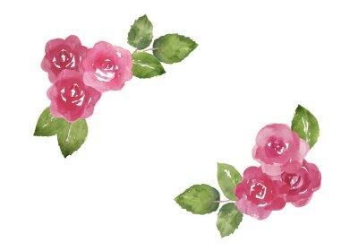 Naklejka バラ の 飾り 枠