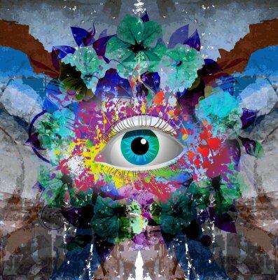 Naklejka яркий абстрактный  фон