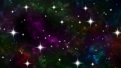 Naklejka космос со звездами
