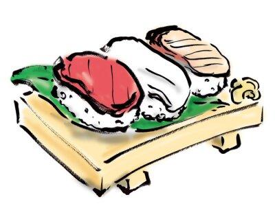 Naklejka 握 り 寿司