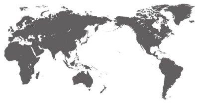 Naklejka 世界 地 図 - Mapa świata -