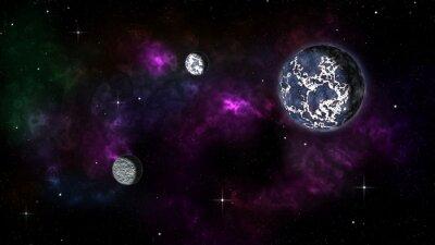 Naklejka планета и 2 спутника