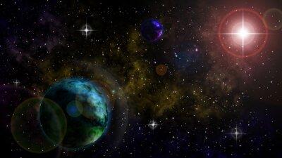Naklejka Открытый космос