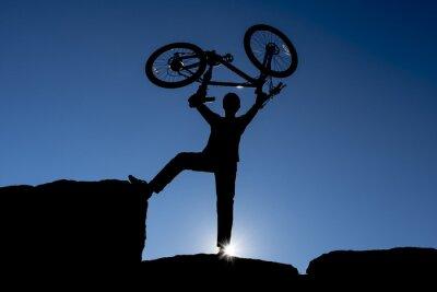 Naklejka bisikletle Hedef başarısı