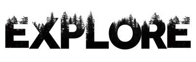 """Naklejka Odkrywaj słowa wykonane na zewnątrz, z napisem """"treetop"""""""