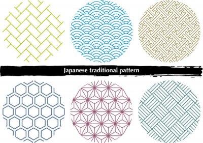 Naklejka 日本の伝統的な和柄素材