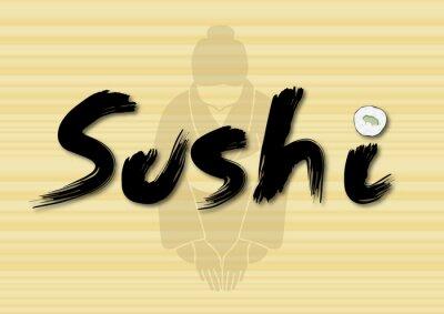 Naklejka 寿司
