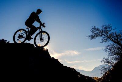 Naklejka sıradışı yerlerde bisiklet gezisi