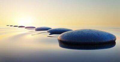Naklejka Steine im Wasser 2