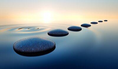 Naklejka Steine im Wasser