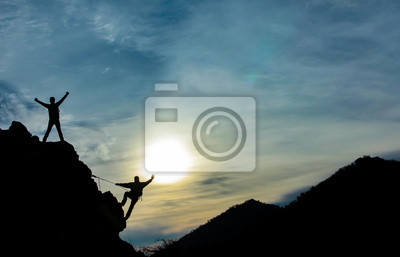 Naklejka Zirve tırmanışını başarmak