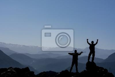 Naklejka zirveye Ulasan dağcılar