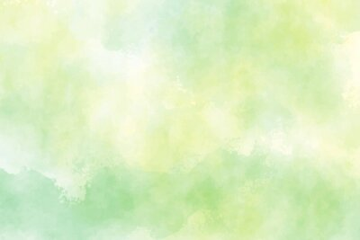 Naklejka yellow and green watercolor background for spring