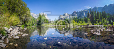 Naklejka Yosemite Valley with Merced river in summer, California, USA