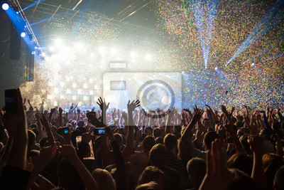 Naklejka Zabawa impreza koncert disco światła tła