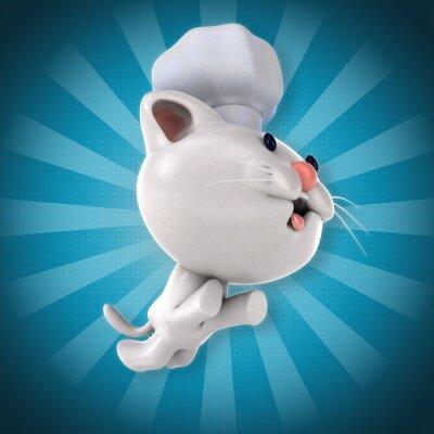 Naklejka Zabawa kota
