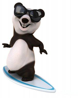 Naklejka Zabawa panda