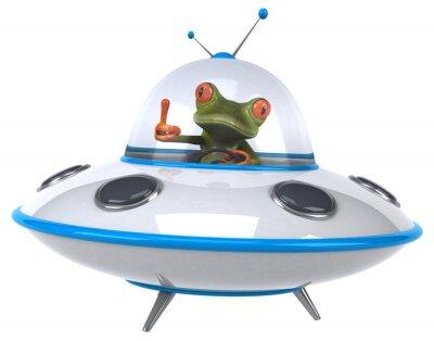 Naklejka Zabawa żaba