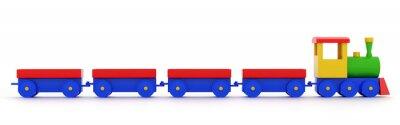 Naklejka Zabawka lokomotywa parowa