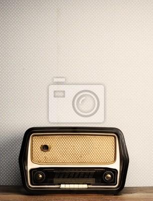 Naklejka zabytkowe radiowych na tle archiwalne