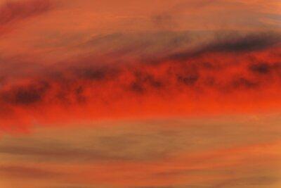 Zachód słońca na niebie