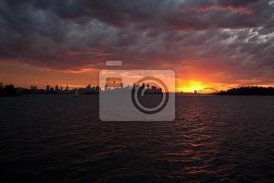 Naklejka Zachód słońca nad Sydney Harbour