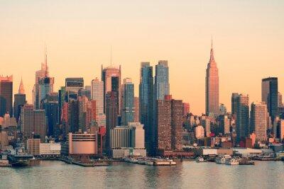 Naklejka Zachód słońca w Nowym Jorku