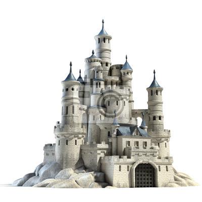 Naklejka Zamek ilustracji 3d
