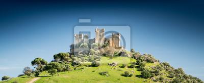 Naklejka Zamek na wzgórzu