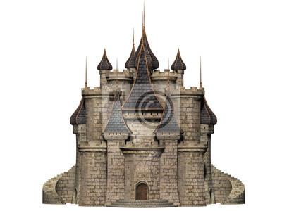 Naklejka Zamek, samodzielnie na białym tle