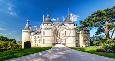 Naklejka Zamek w Chaumont-sur-Loire, Francja