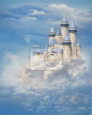 Naklejka Zamek w chmurach
