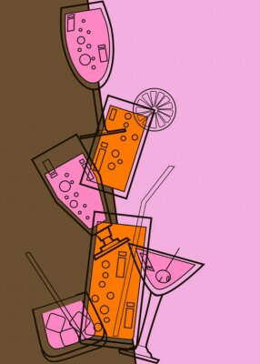 Naklejka Zaproszenie do Cocktail party