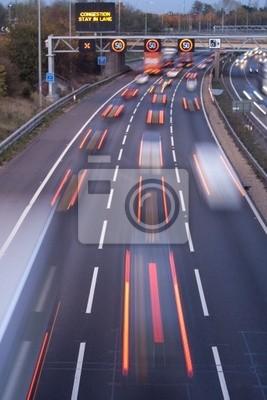 Naklejka Zarządzanie ruchem Autostrada