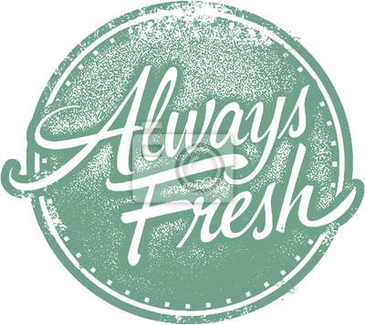 Naklejka Zawsze Label Fresh Food Stamp produktów