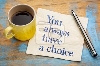 Naklejka Zawsze masz wybór