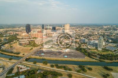 Naklejka Zdjęcie lotnicze Fort orth Texas