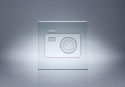Naklejka Zdjęcie z pustą płytkę szklaną z miejsca kopiowania